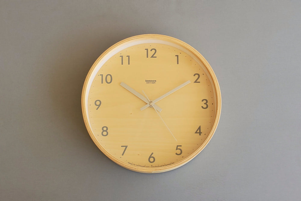 Japanese Plywood Wall Clock