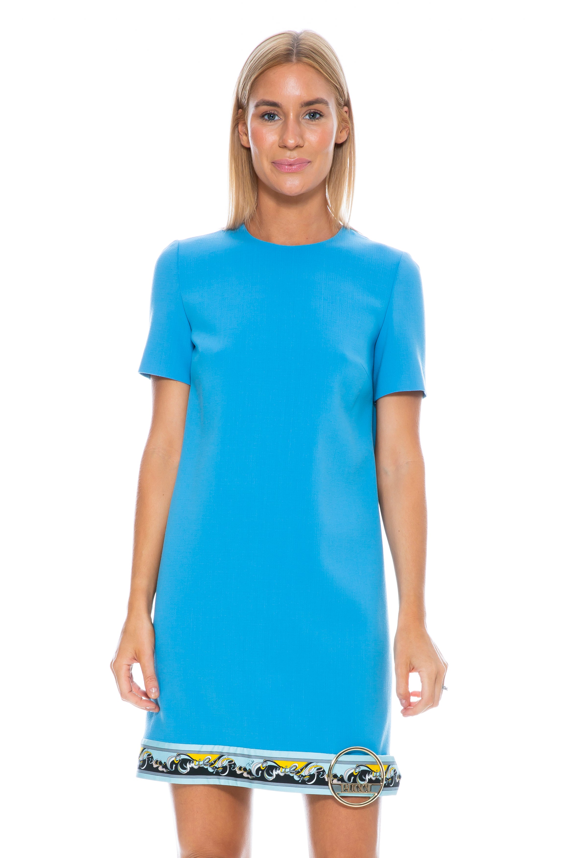 SHORT SLEEVE BLUE DRESS