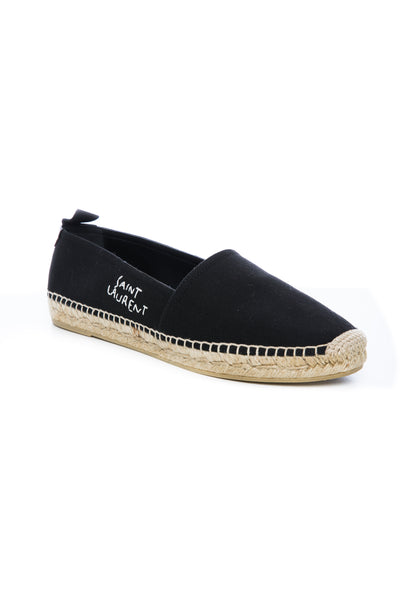 EMBROIDERED ESPADRILLE IN BLACK