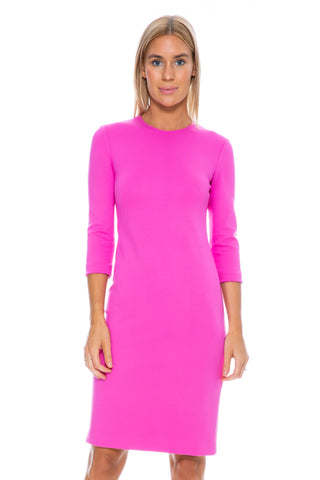 SHADOW PERFORATED DRESS FROST PINK