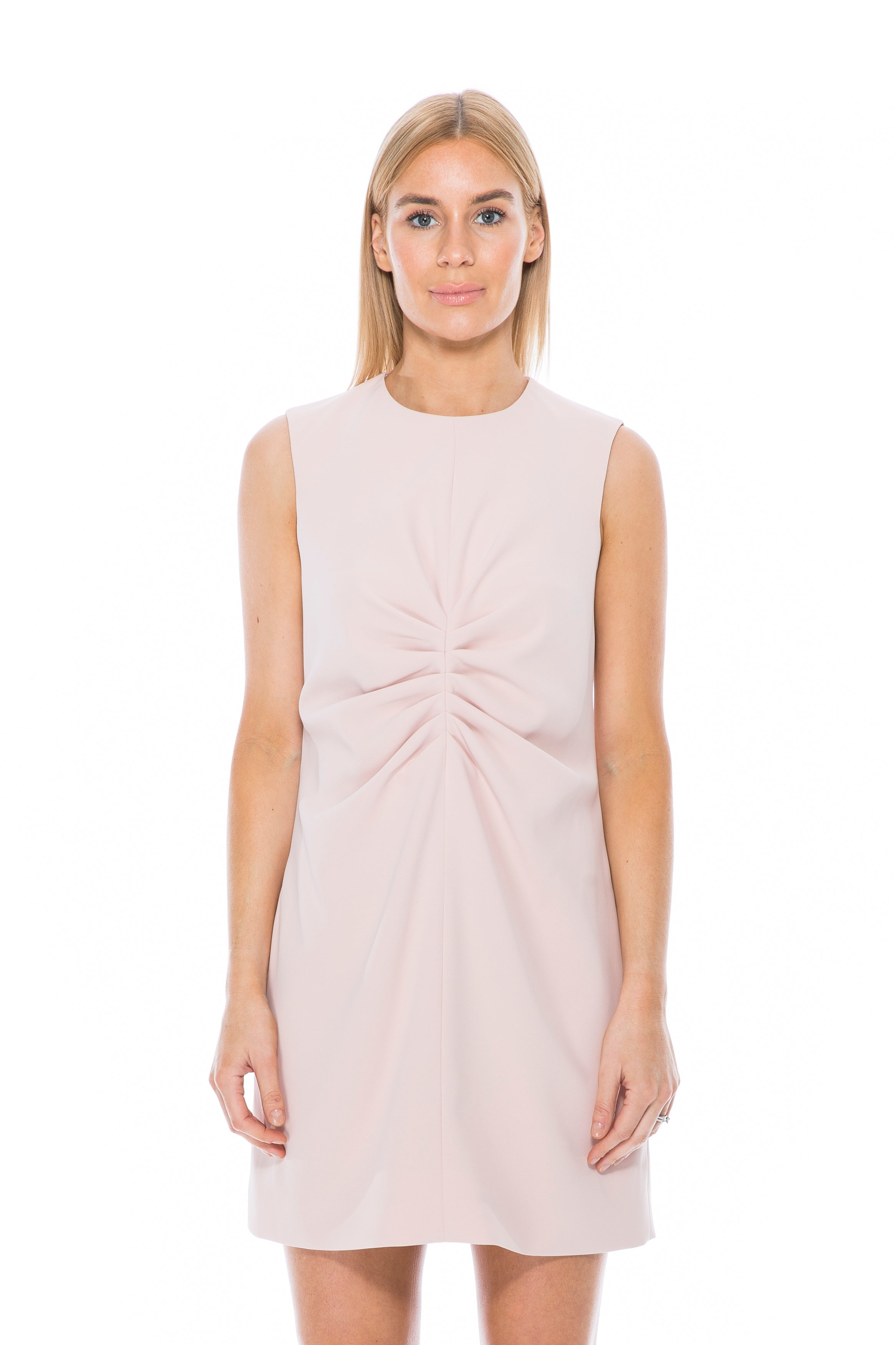 FLUID CREPE DRESS NUDE