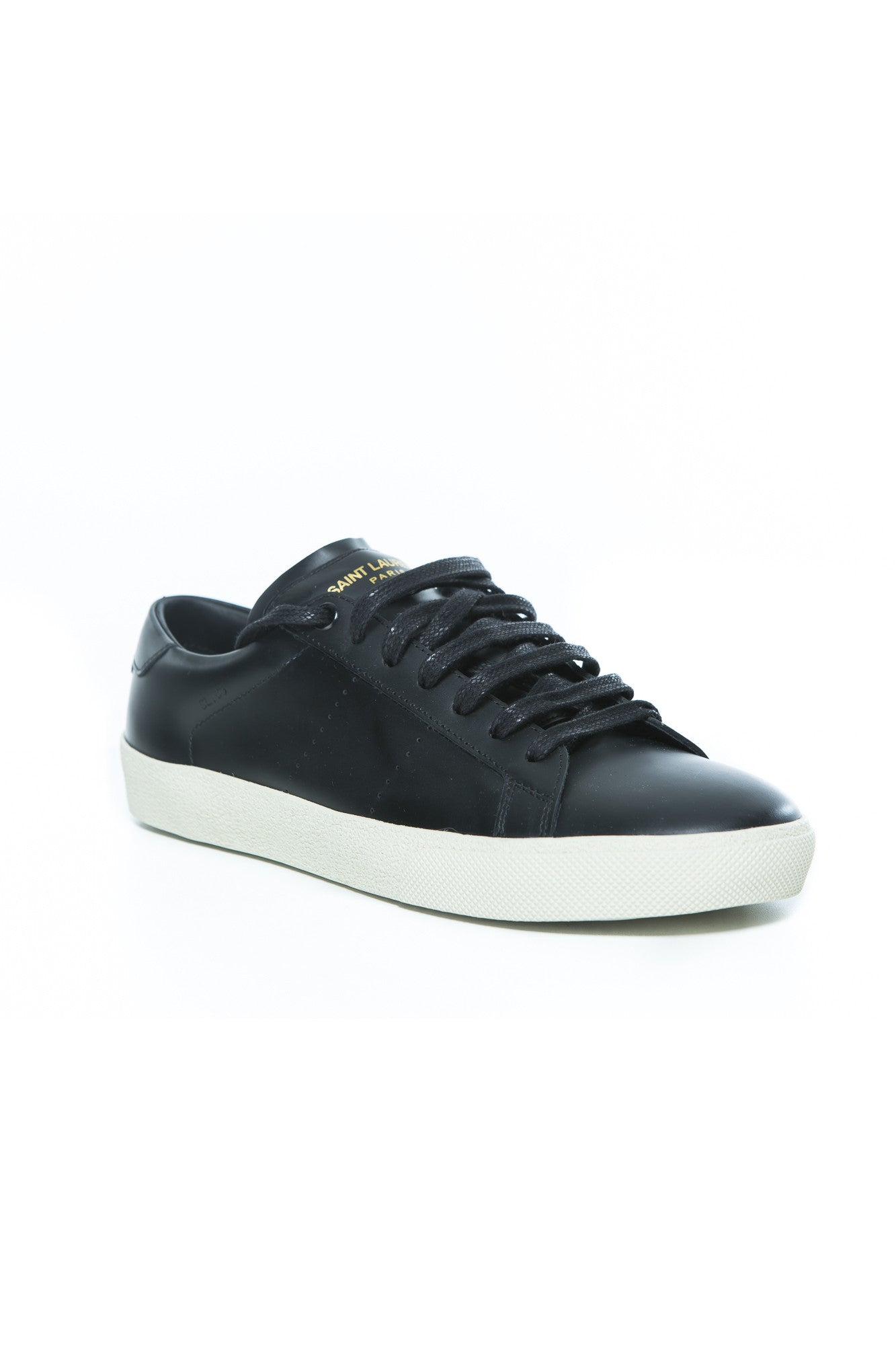 75dd563463a SAINT LAURENT SL/06 COURT CLASSIC SNEAKER IN BLACK LEATHER – THE STYLE SET