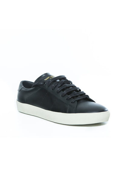 SL/06 COURT CLASSIC SNEAKER IN BLACK LEATHER