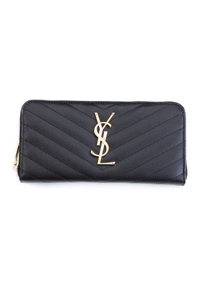 CLASSIC MONOGRAM WALLET BLACK / GOLD
