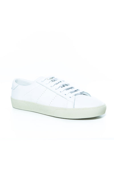 SL/06 COURT CLASSIC SNEAKER IN WHITE LEATHER