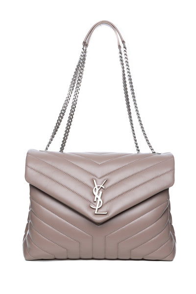 MEDIUM LOULOU BAG IN MINK