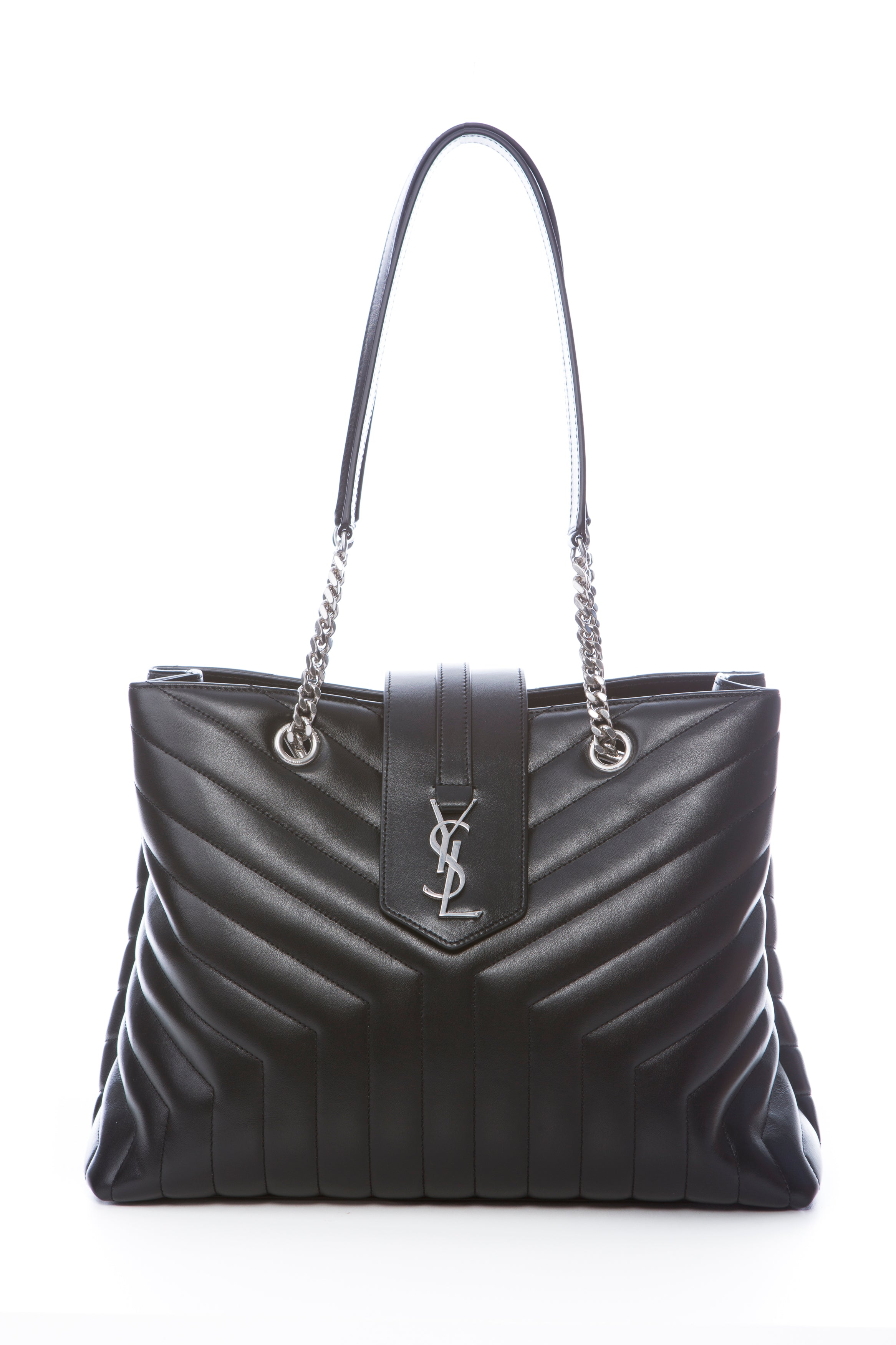 11edf5ac1 SAINT LAURENT LARGE LOULOU SHOPPING BAG IN BLACK – THE STYLE SET