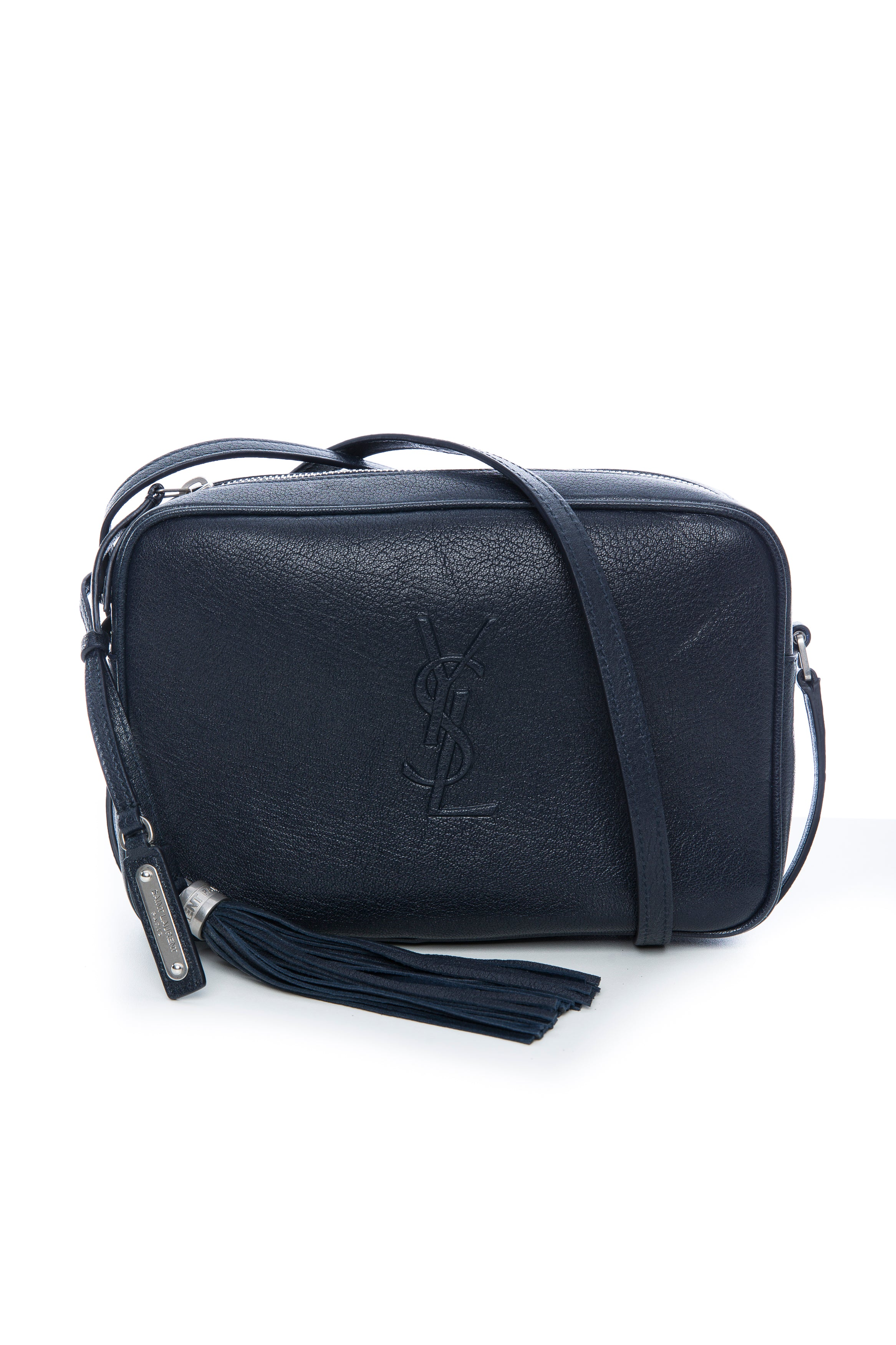 b3f87b187204 SAINT LAURENT LOU CAMERA BAG NAVY – THE STYLE SET