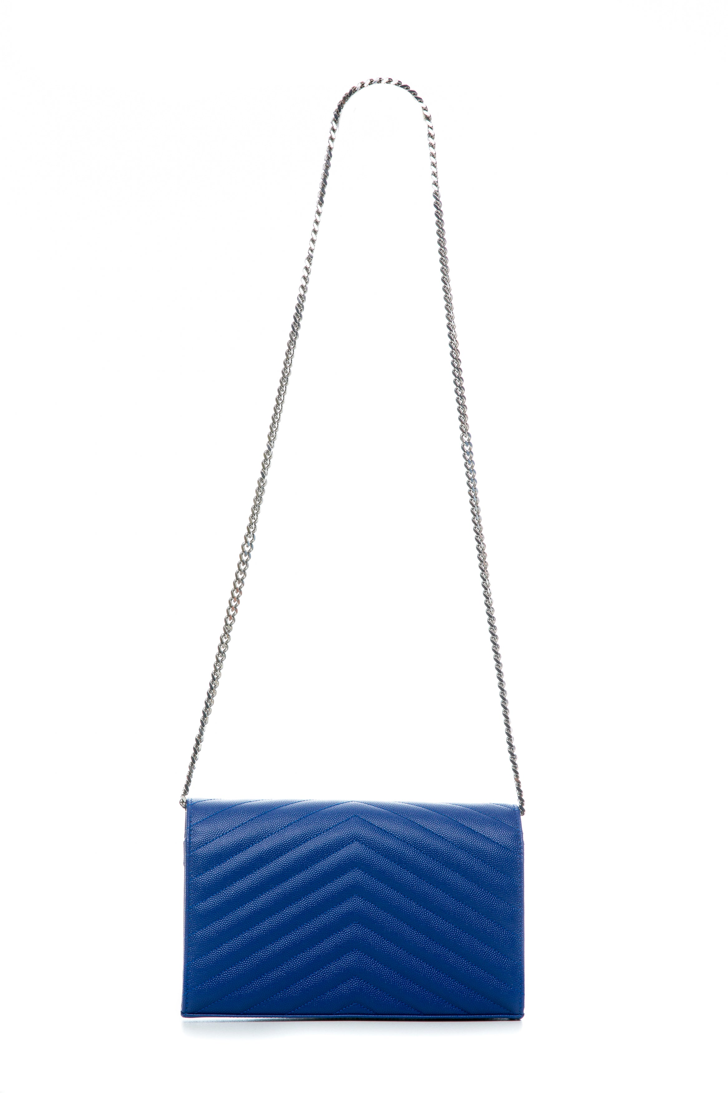 CHAIN WALLET BAG COBALT BLUE