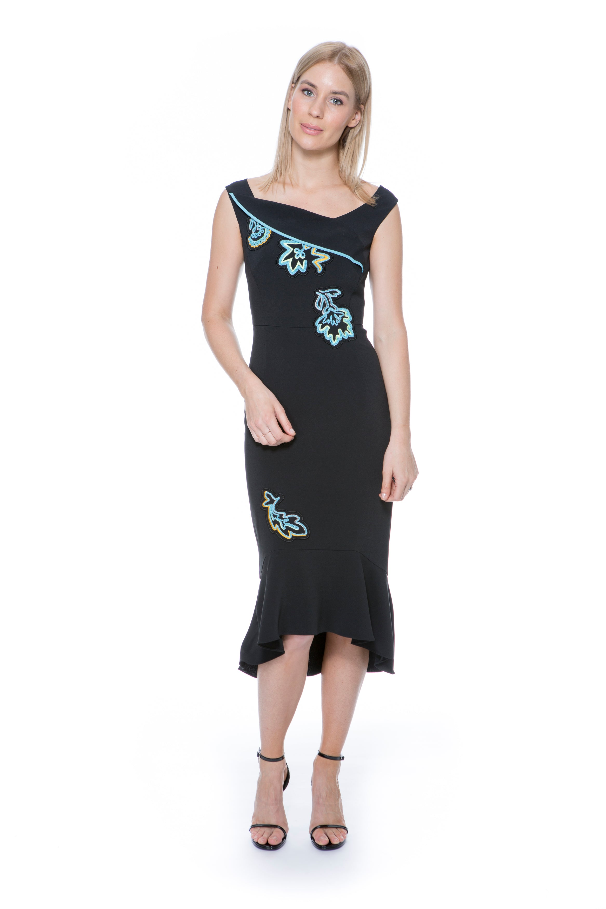CADY EMBROIDED DRESS