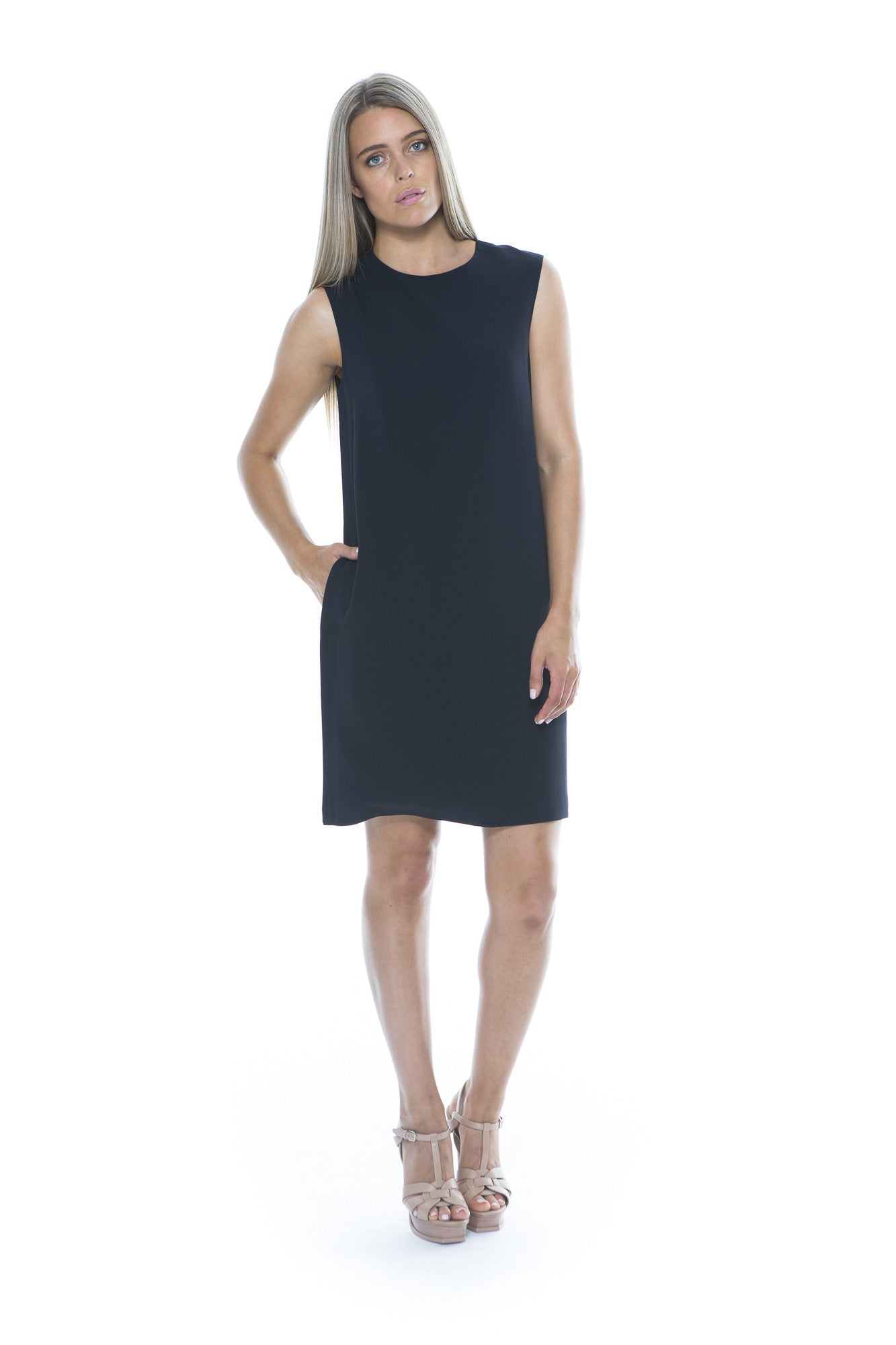 SHIFT DRESS NAVY