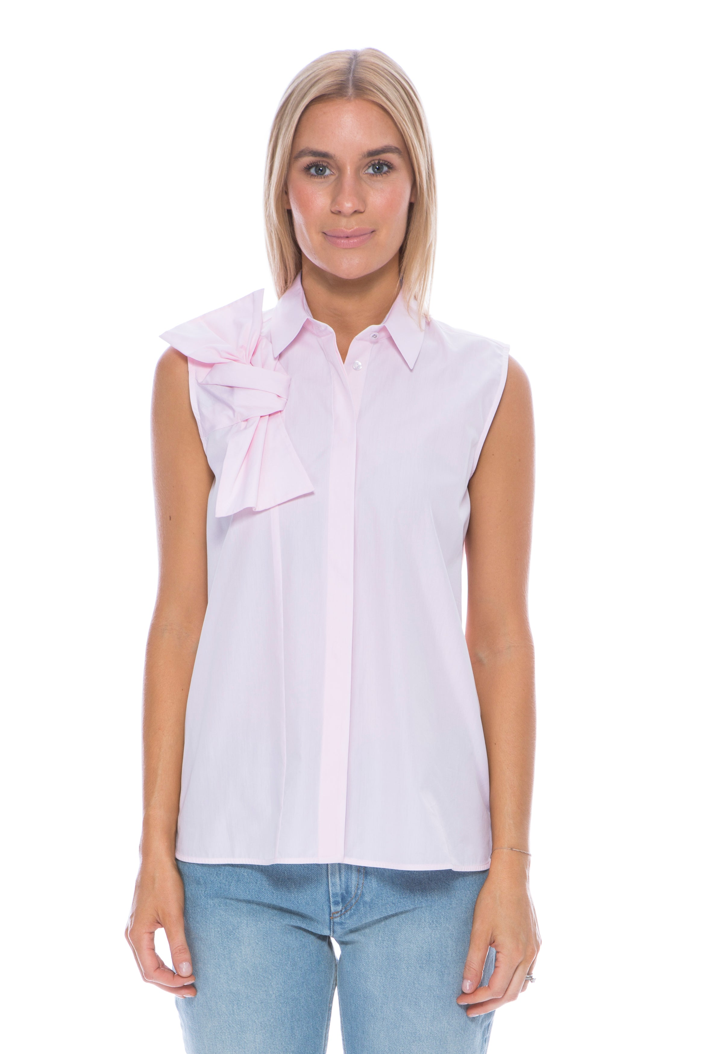 BOW SHIRT PALE PINK
