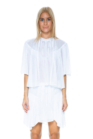 CORRUGATED PLEAT TOP IVORY