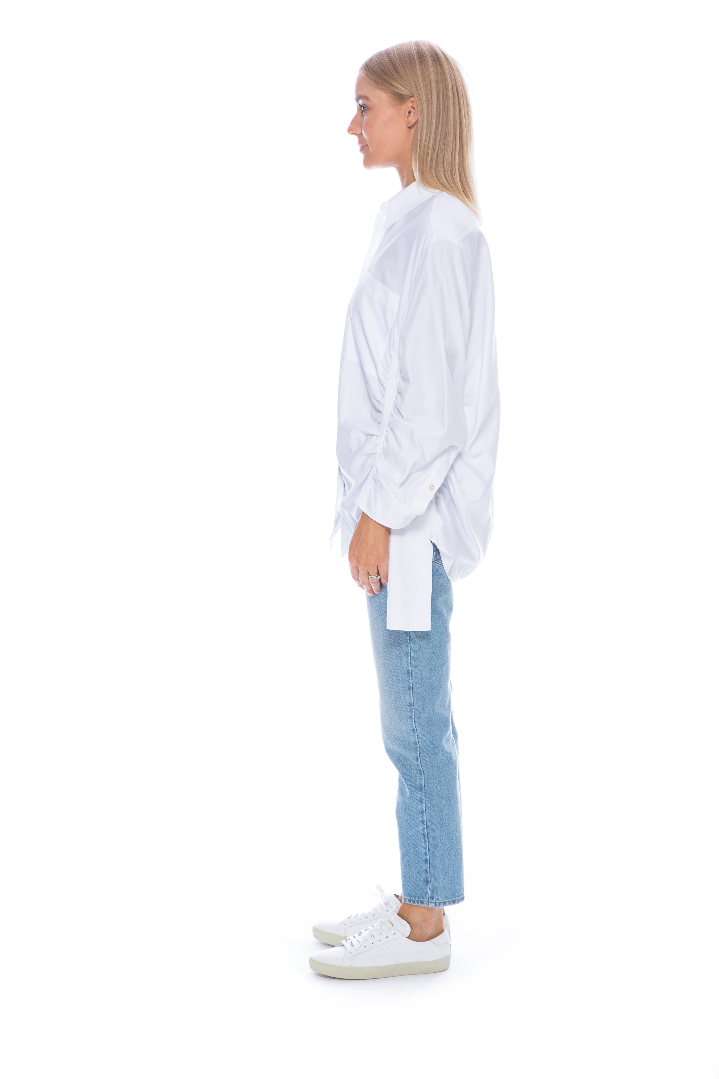 WHITE SHIRT WITH PANELS