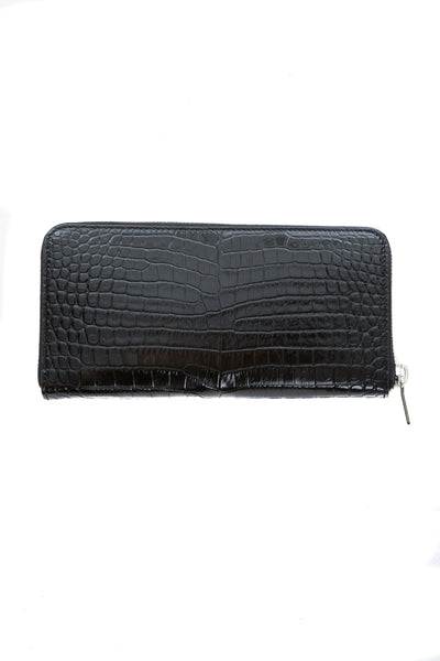 CLASSIC MONOGRAM WALLET IN CROCODILE EMBOSSED LEATHER