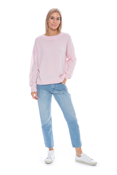 PALE PINK BOYFRIEND SWEATER
