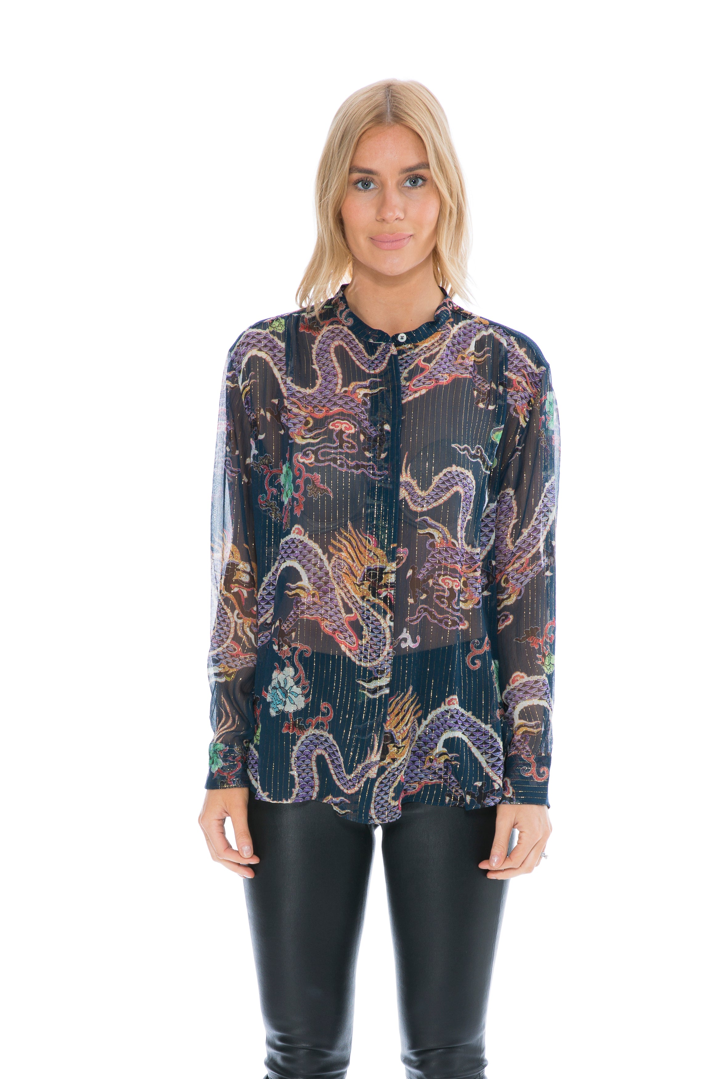 0003213251 Isabel Marant DAWS TOP MIDNIGHT – THE STYLE SET