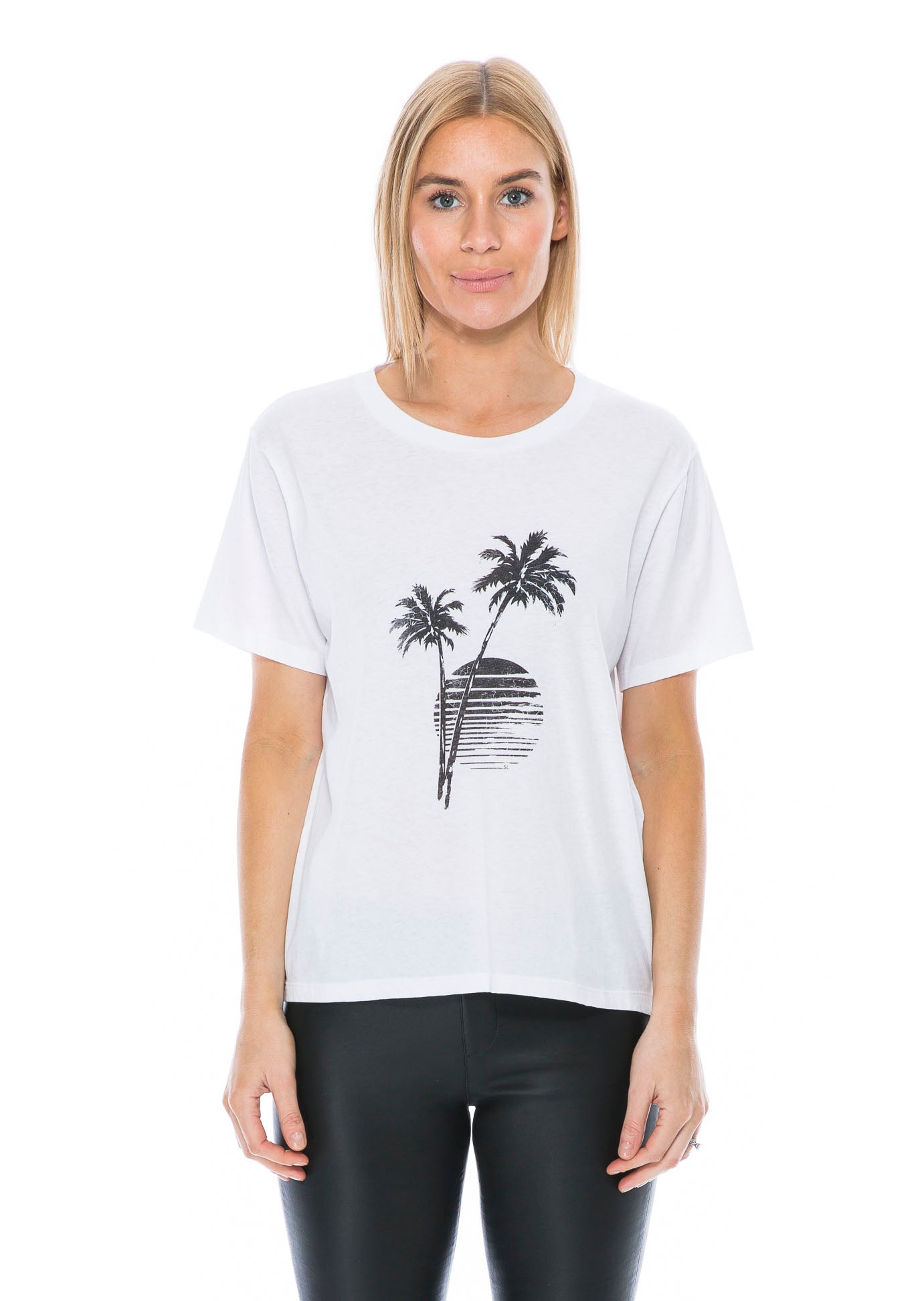 df0cc2f5cf SAINT LAURENT PALMS T-SHIRT WHITE – THE STYLE SET