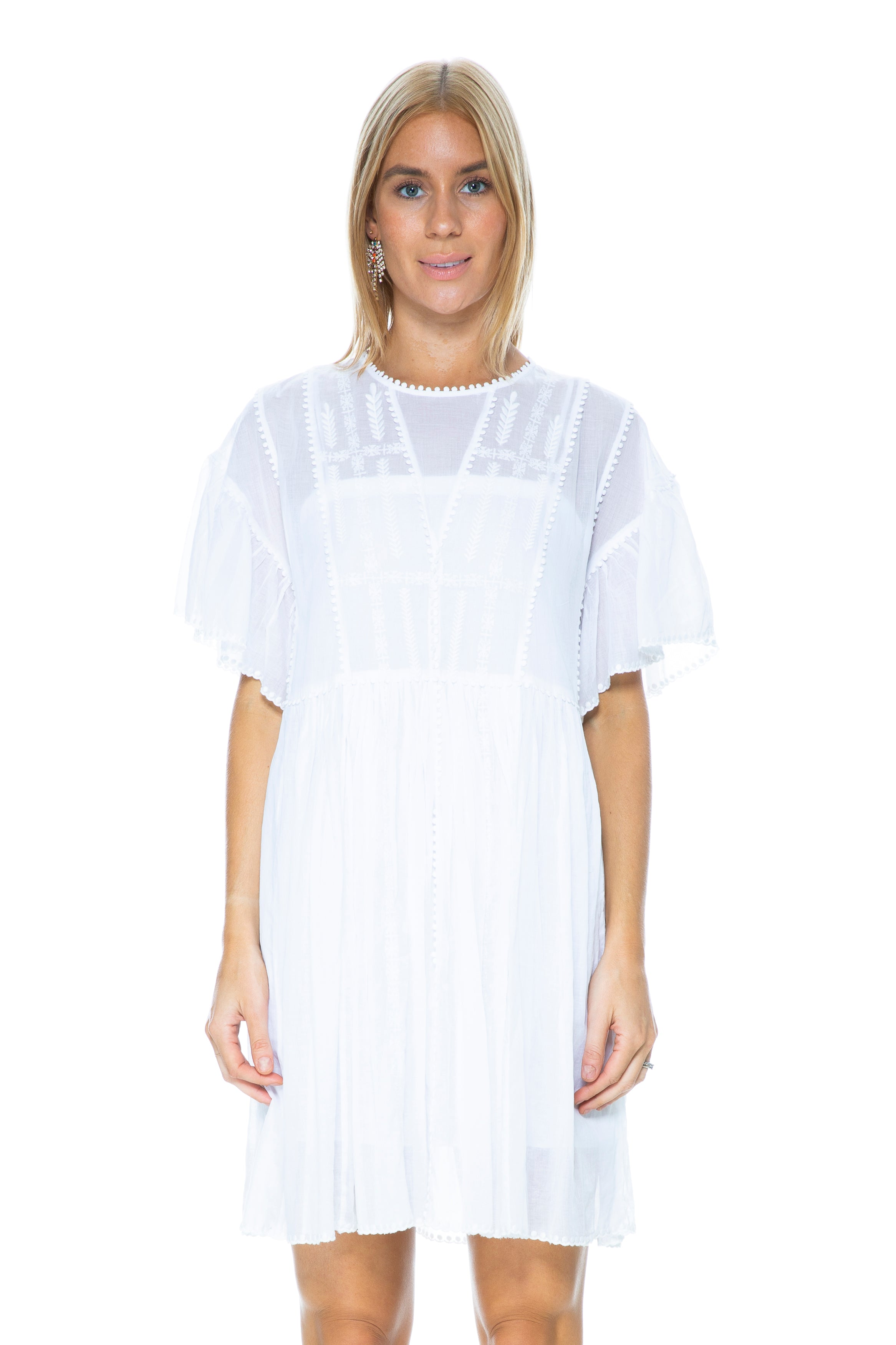 c5036f0e3a Isabel Marant ANNAELLE DRESS WHITE – THE STYLE SET