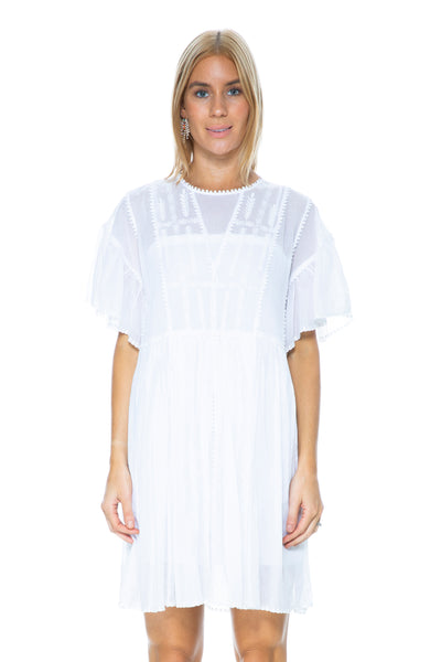 ANNAELLE DRESS WHITE