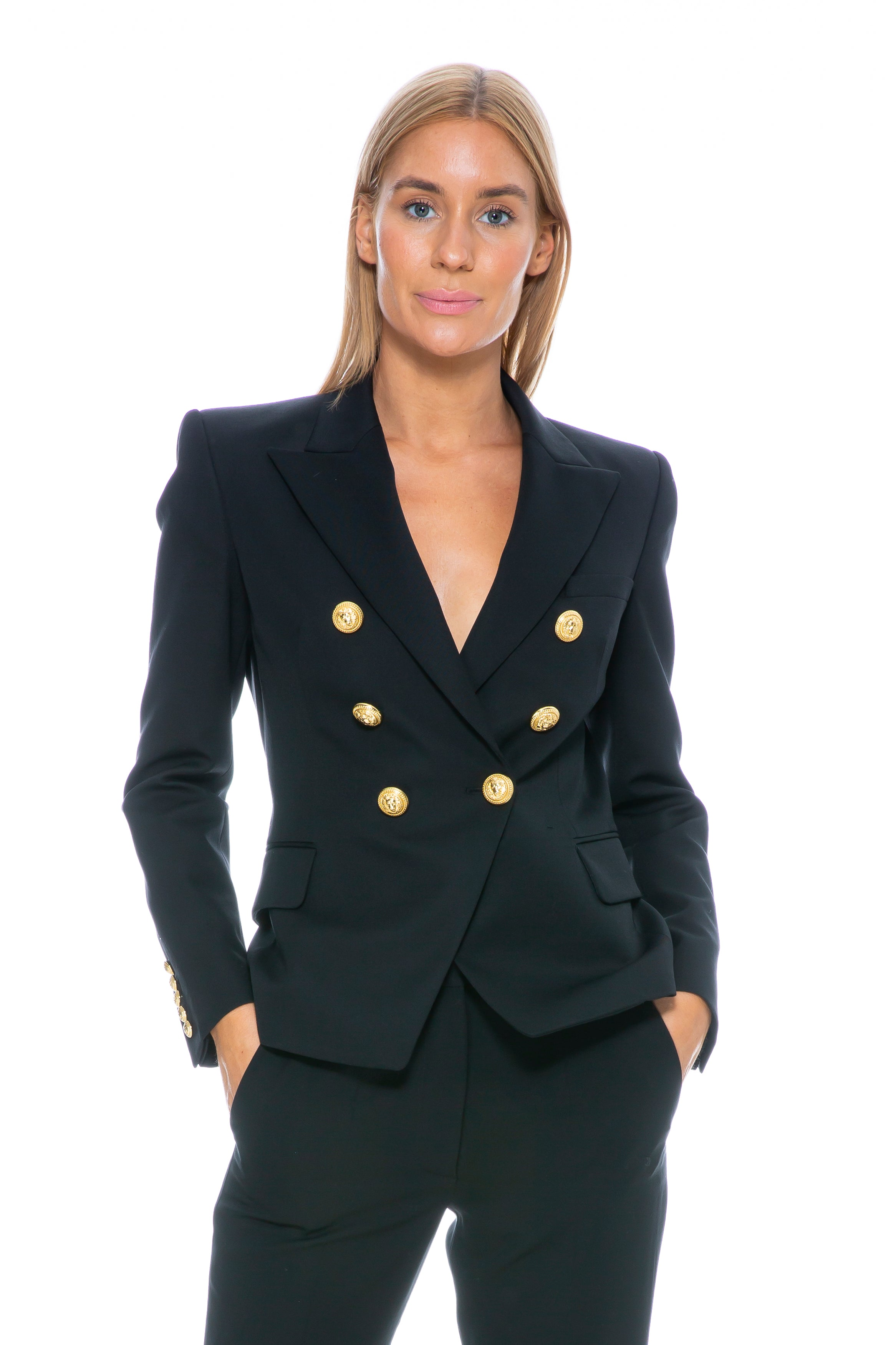 CLASSIC BLAZER BLACK WITH GOLD BUTTONS