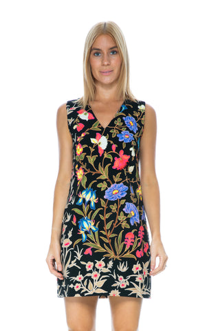 PRINTED COLD SHOUDLER DRESS