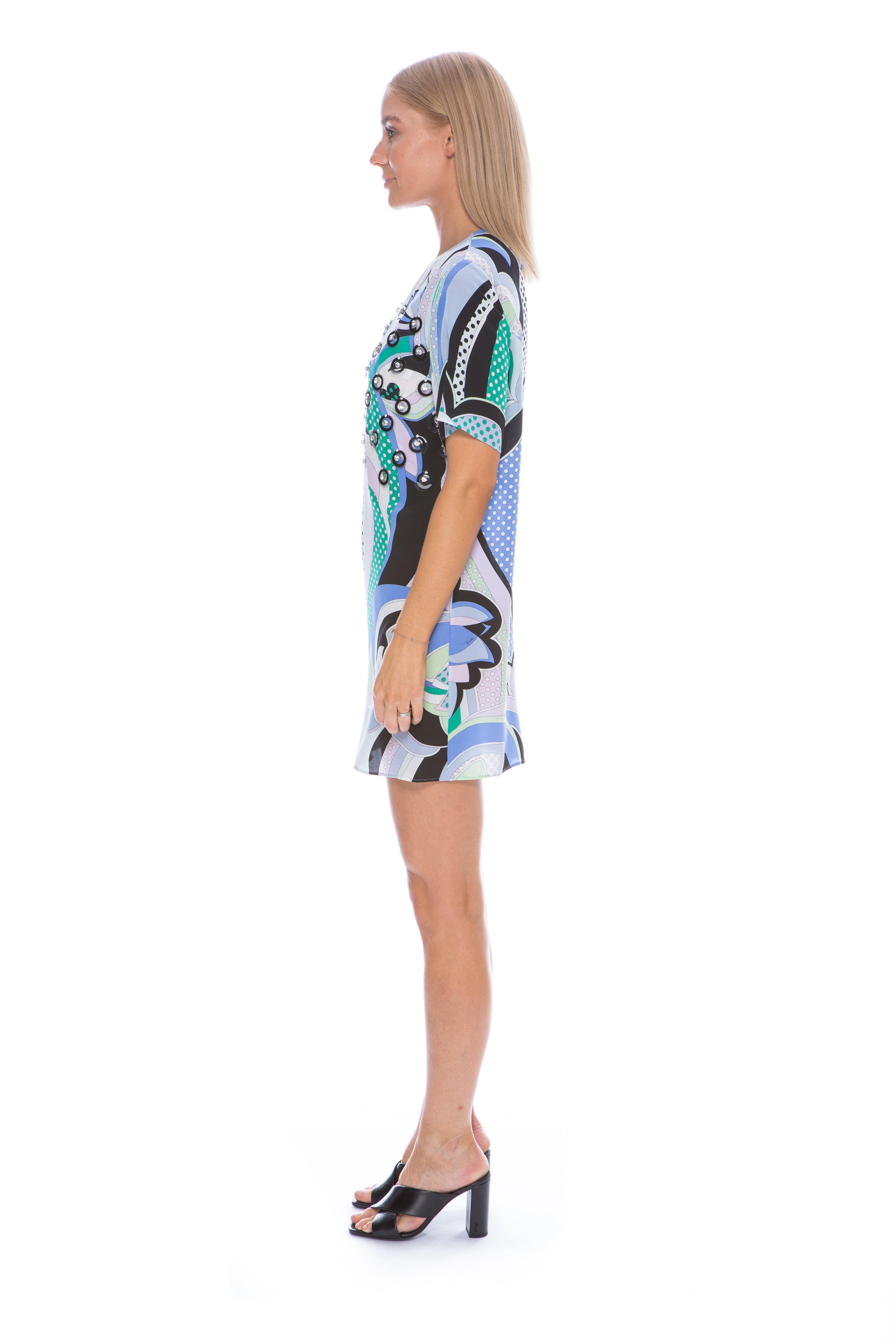 NISIDA PRINT EMBELLISHED DRESS