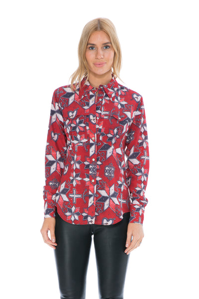 TANIA SHIRT RED PRINT