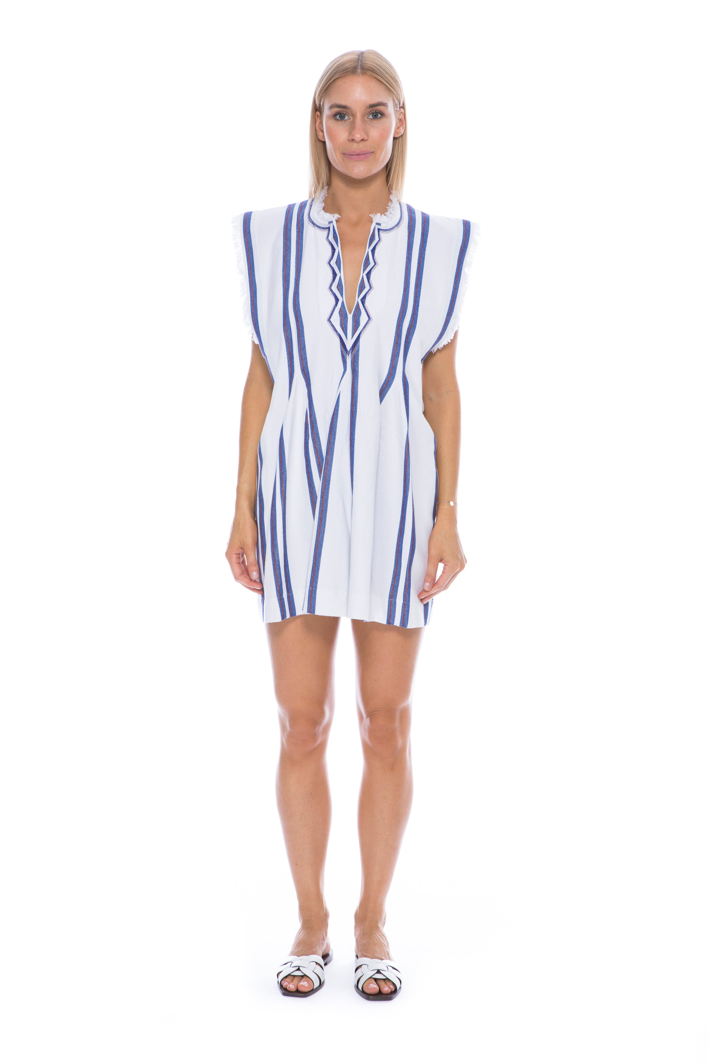 ETOILE DENIZE DRESS WHITE & BLUE