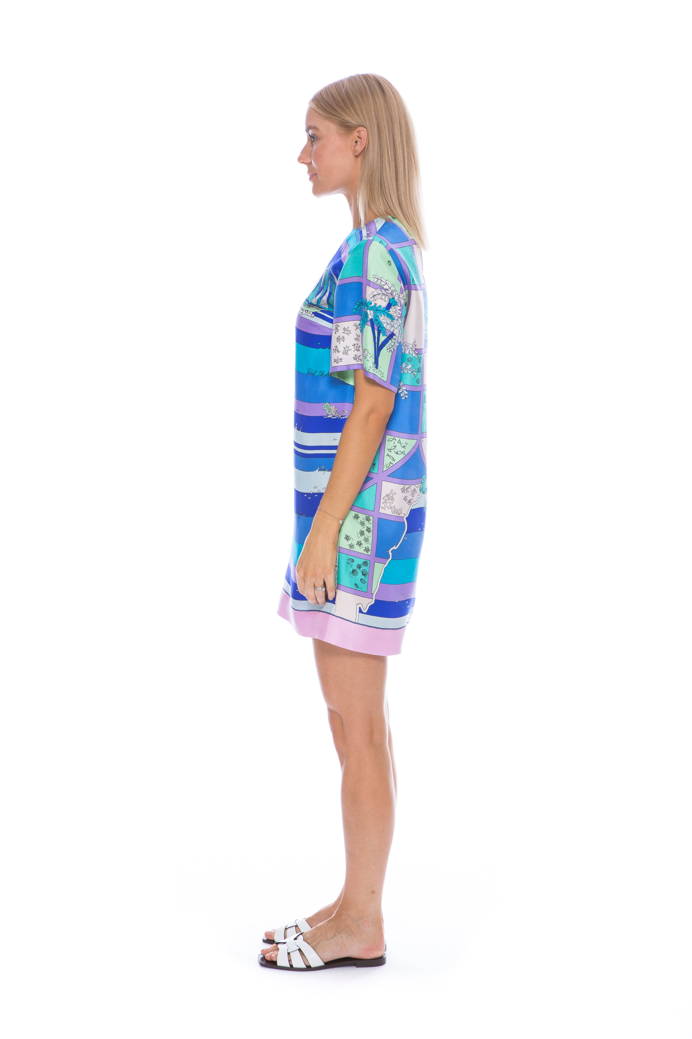 FLORIDA PRINT SILK TWILL DRESS