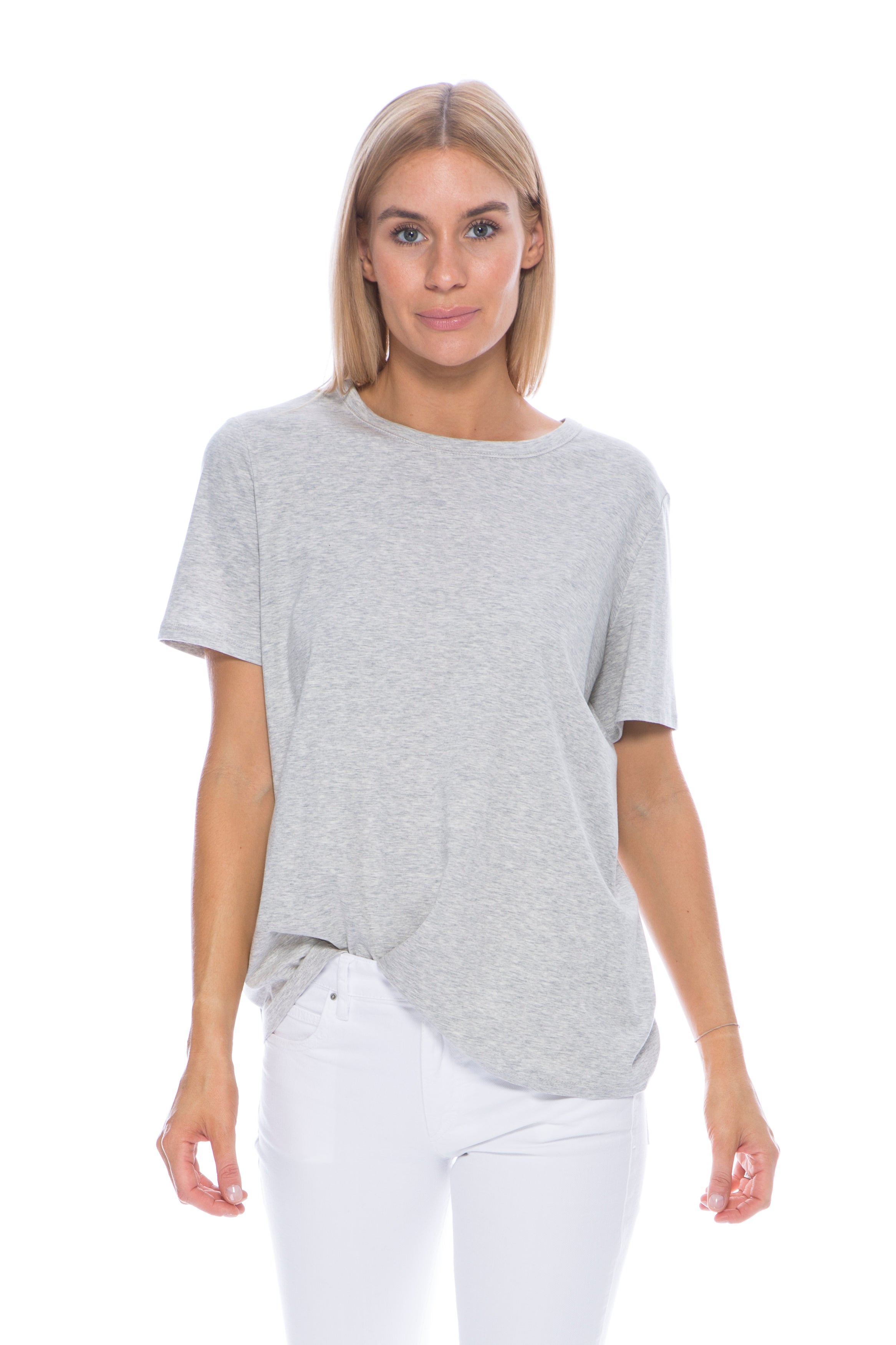 LANIE TOP LIGHT GREY