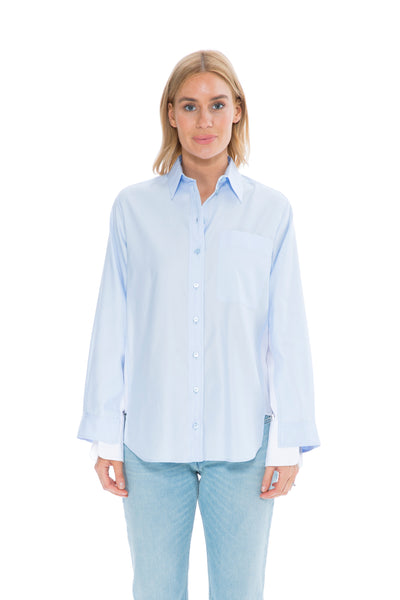 OXFORD BLUE & WHITE COTTON SHIRT