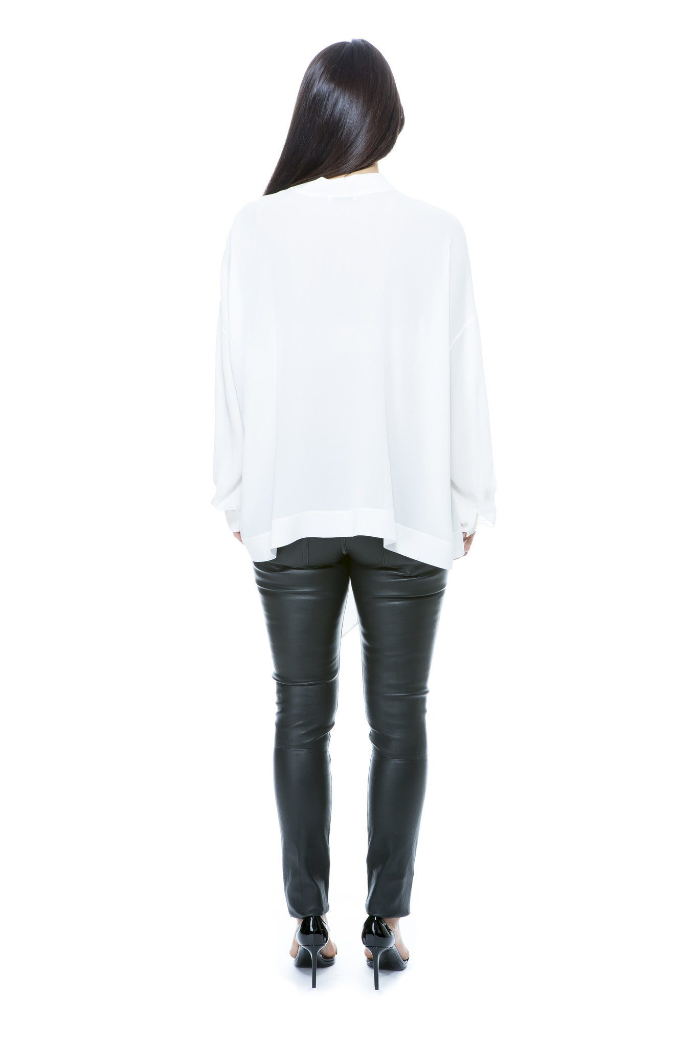 TIE NECK BLOUSE WHITE
