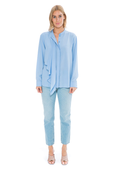 SKY BLUE SILK SHIRT