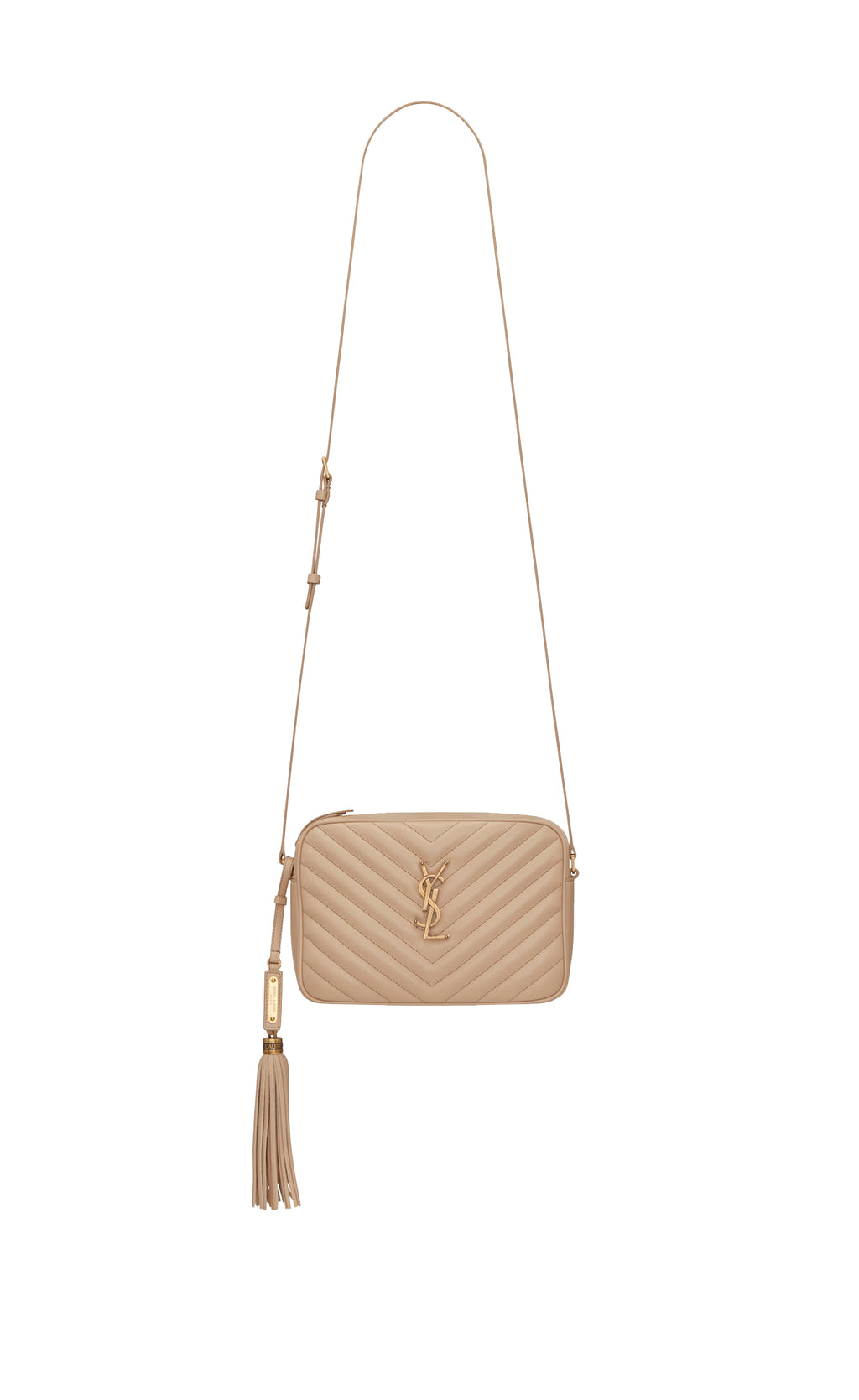 LOU CAMERA BAG QUILTED LEATHER NUDE