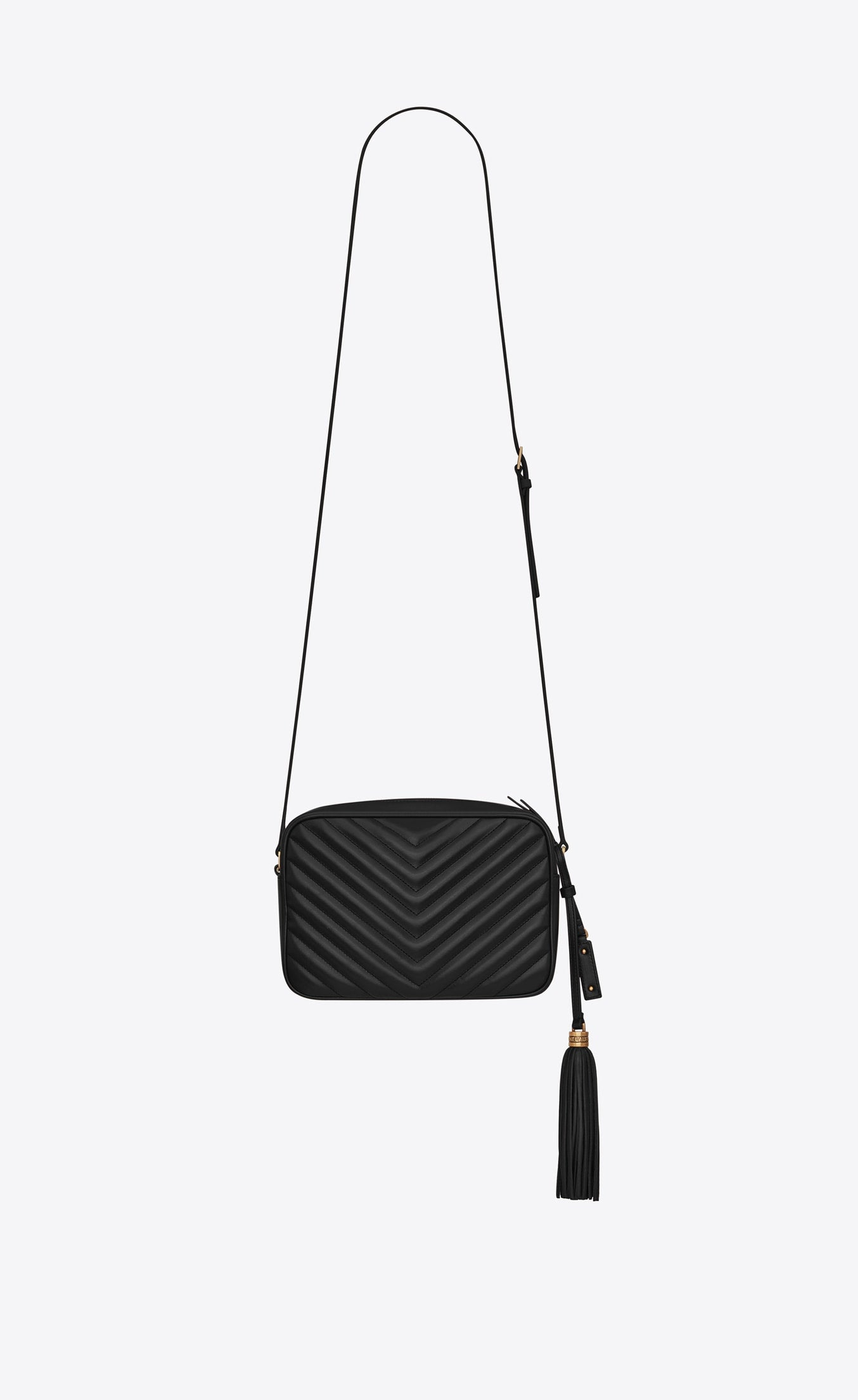 LOU CAMERA BAG QUILTED LEATHER BLACK