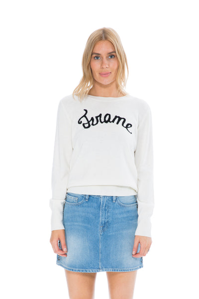 LOGO SWEATER IVORY