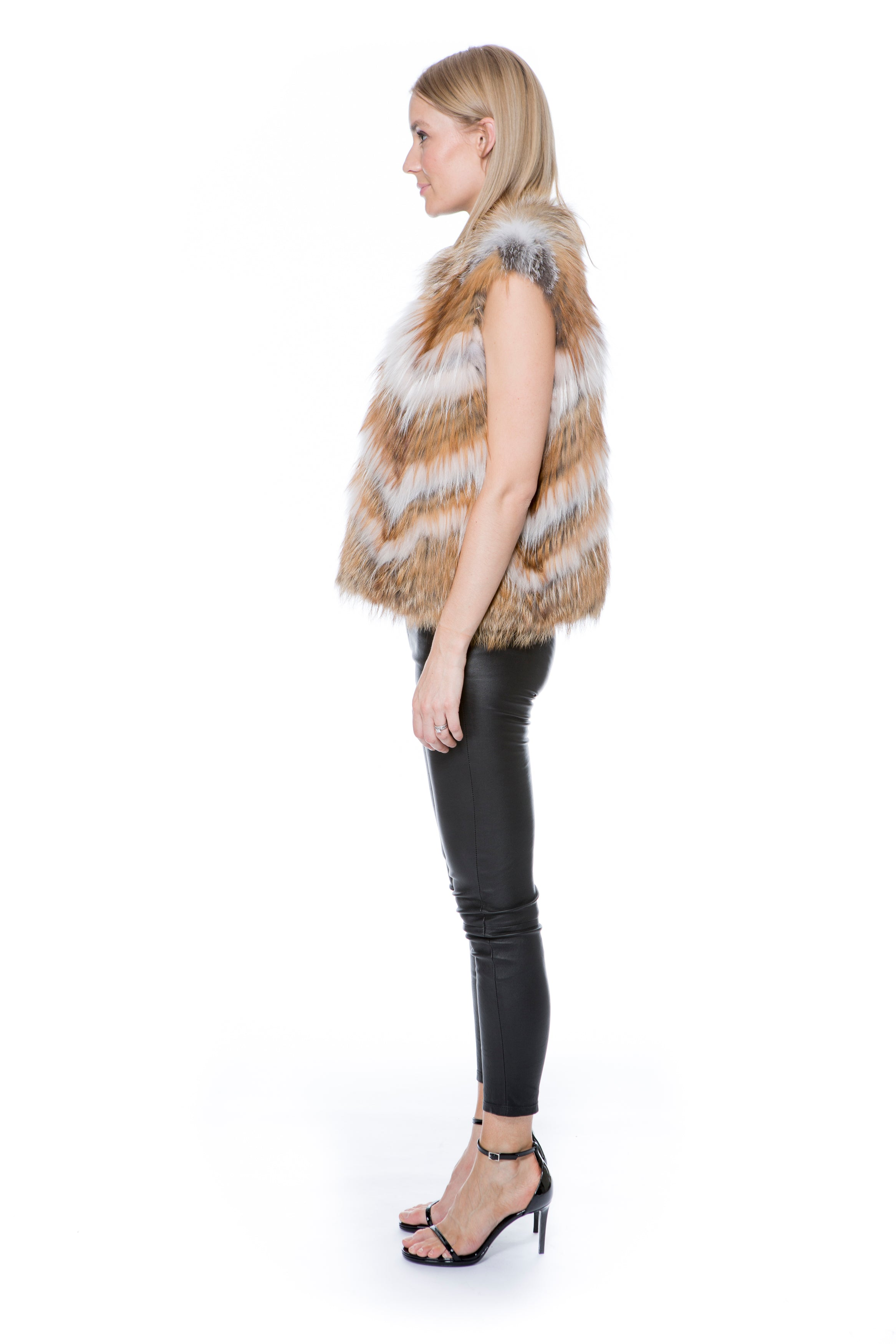 FOX VEST NATURAL/ WHITE