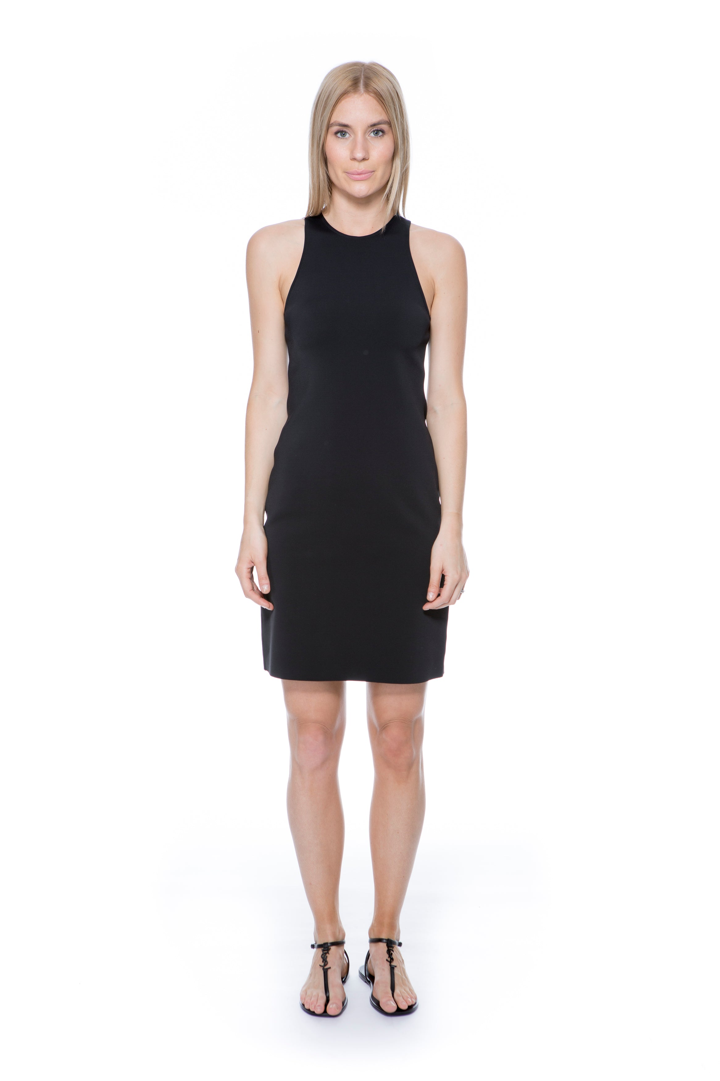 SCOOP TANK DRESS BLACK