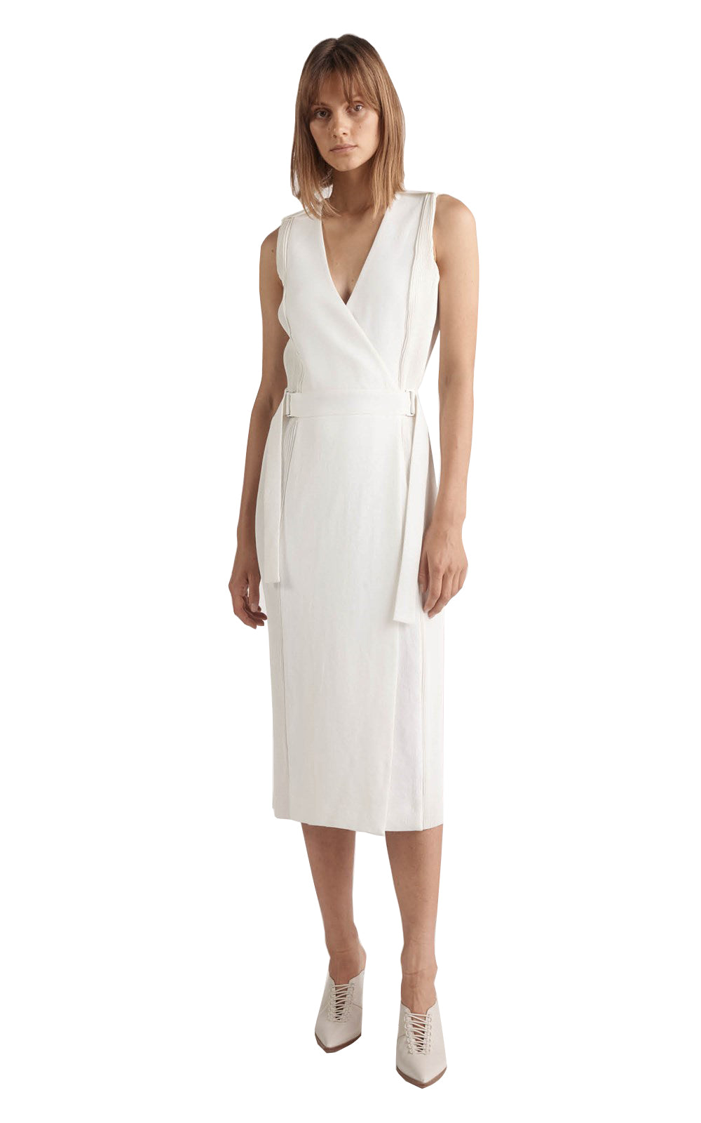 5d2d72f0c9 DION LEE CORRUGATED PLEAT DRESS WHITE – THE STYLE SET