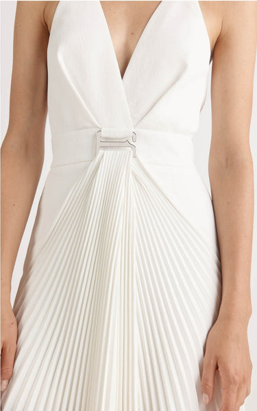 SUSPENDED SUNRAY DRESS WHITE