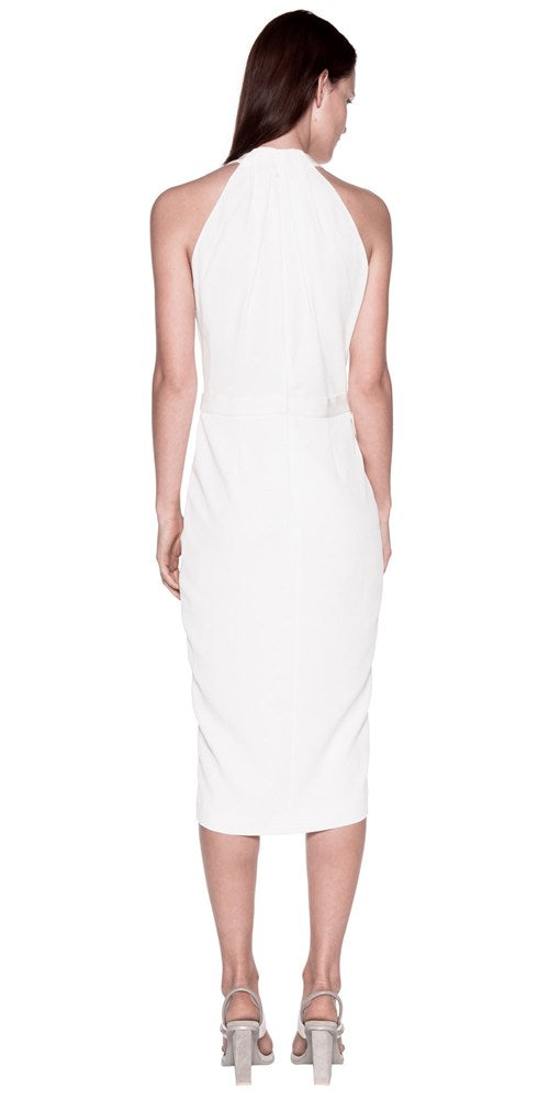 WHITEWASH DRAPE DRESS WHITE