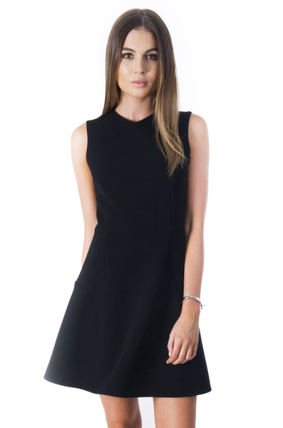 HEXAGON DRESS BLACK