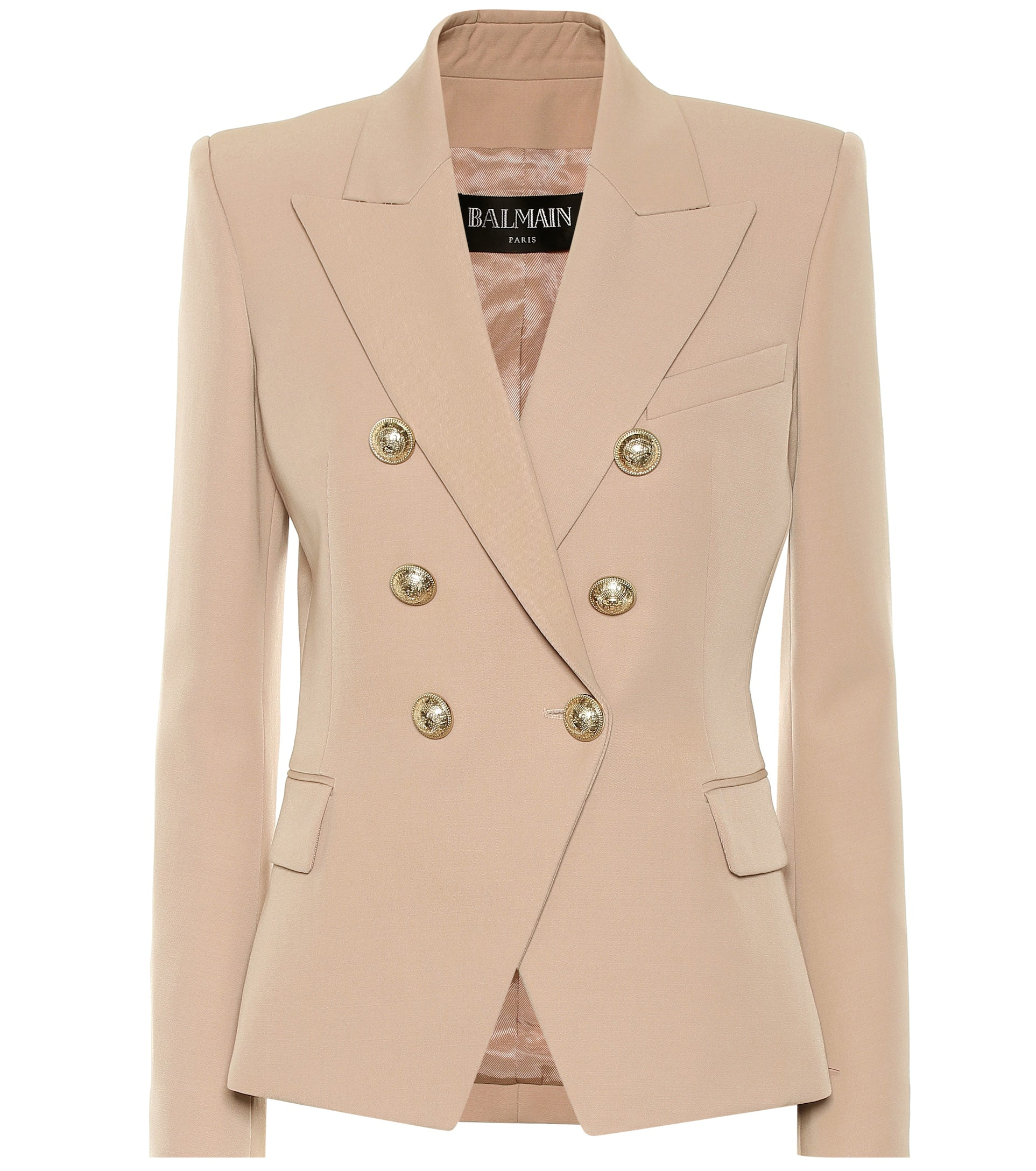 6 BUTTON JACKET NUDE