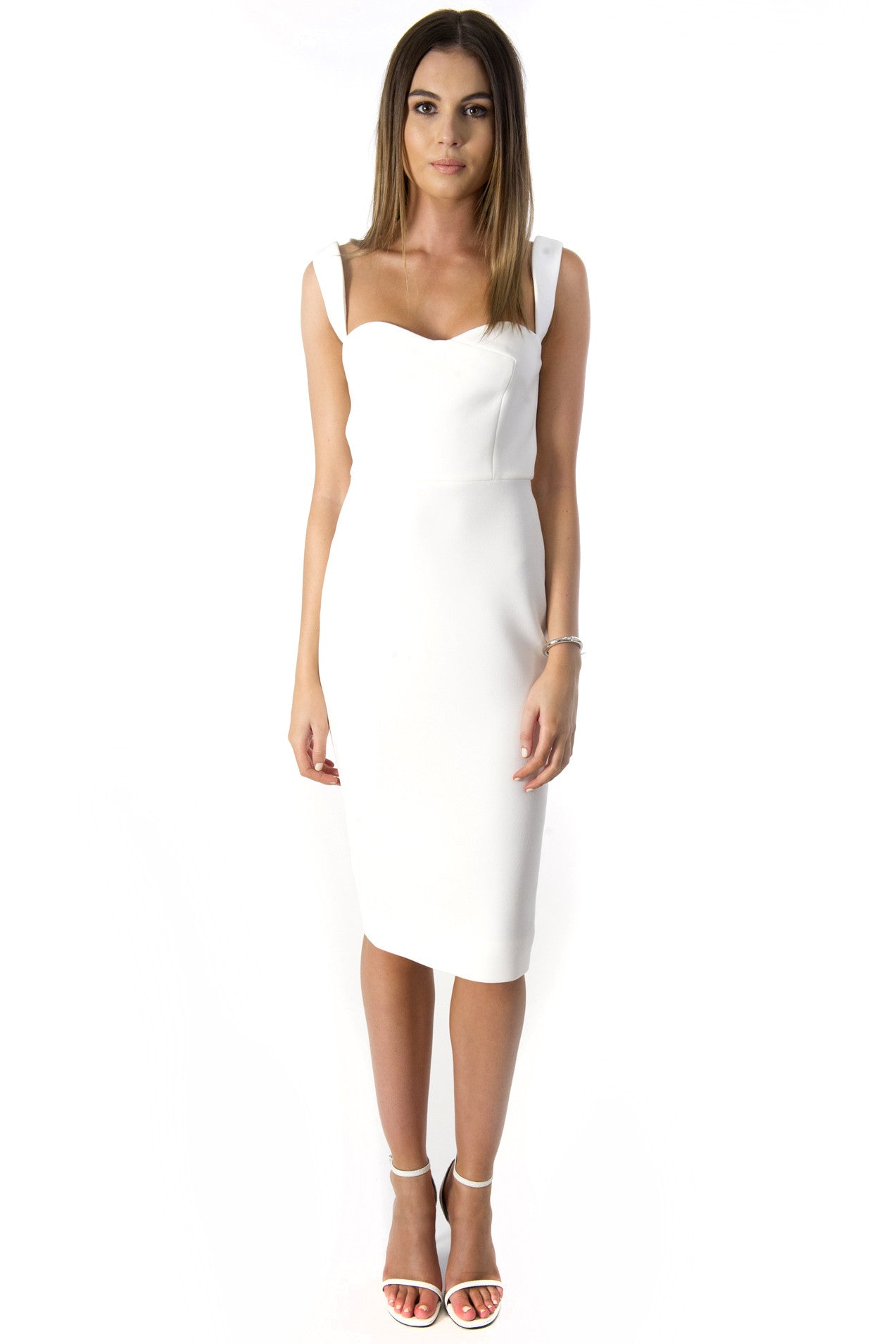 CURVE DRESS WHITE