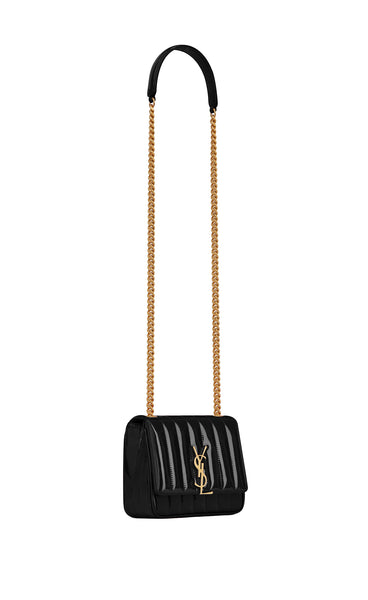 SMALL VICKY BAG BLACK PATENT