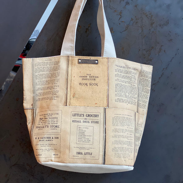 Canvas Cookbook Bag *