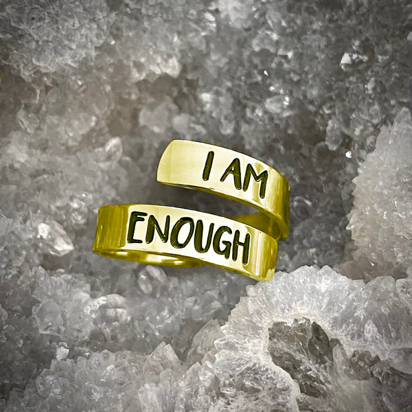 I Am Enough Ring (Yellow Gold)