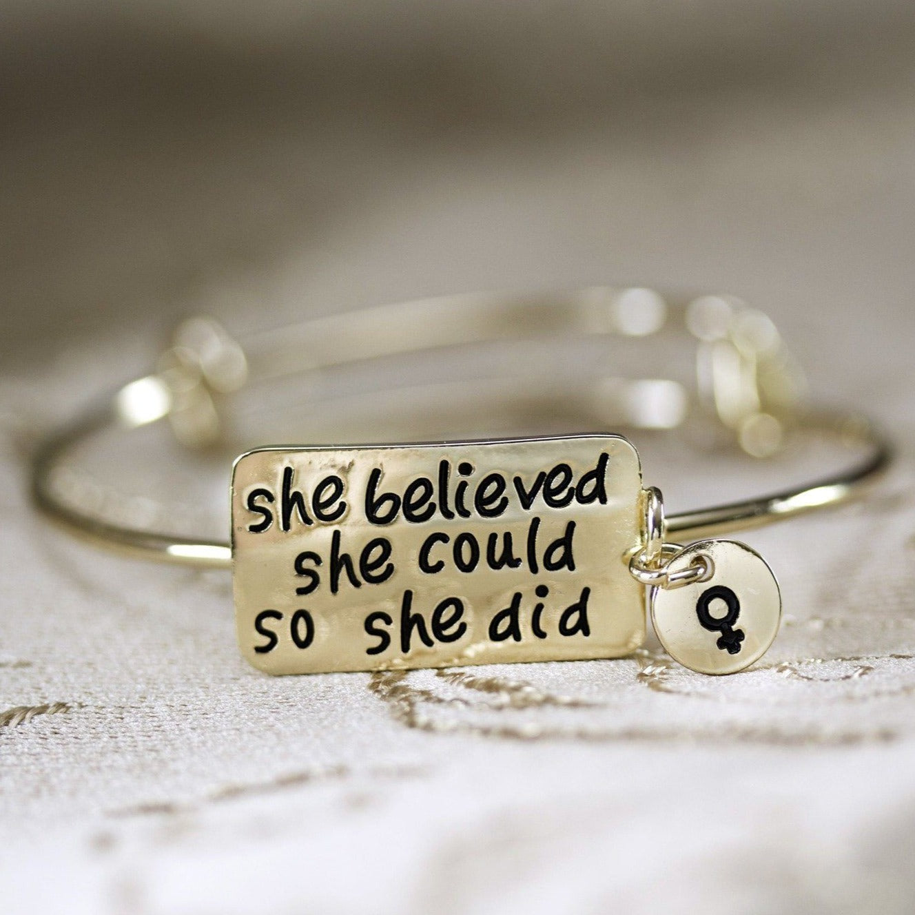 She Believed She Could So She Did Bracelet - Fem Things