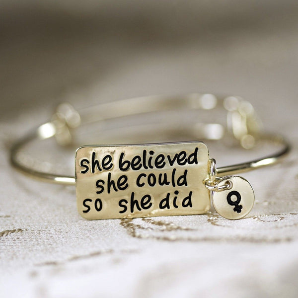 She Believed She Could So She Did Bracelet Bracelet Fem Things
